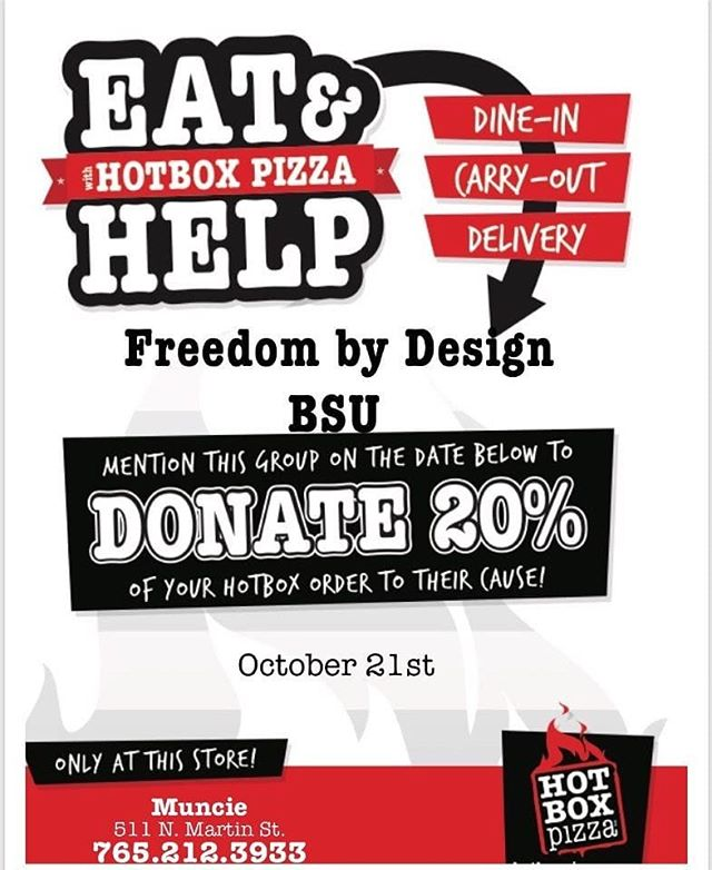 Do you love pizza? Do you love supporting a great cause? I have the best news for you!  Saturday, October 21st, Freedom by Design will be partnering with Hotbox Pizza to raise funds for our friend, Eli, a Fort Wayne native, who was recently diagnosed with GBS. On this day, 20% of the funds will be donated to him and his family, and the completion of our pergola and deck project we are constructing for them.