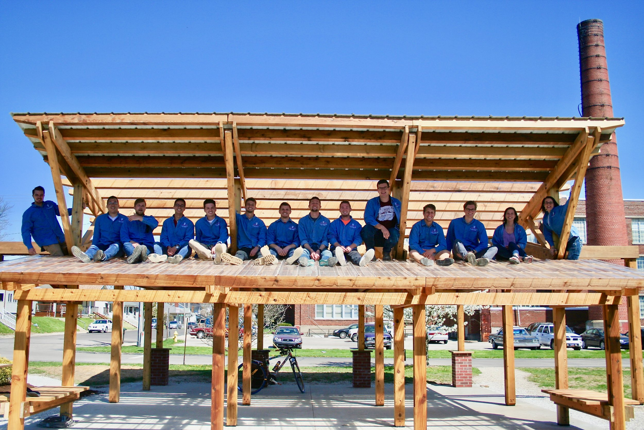 Spring 2018 Maring Hunt Community Garden Pavilion Team