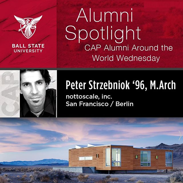 Peter Strzebniok...Picking a single project is difficult as they are all special in different ways but if I had to pick one I would probably pick the Rondolino Residence (for Italian writer Fabrizio Rondolino) because of its isolated location in Nevada next to Death Valley. It's only accessible across the rough desert scrub and the nearest neighbor, oddly enough, is a brothel some seven miles away. It was my first ground up home and building in the middle of the desert and certainly had many challenges that are far from normal – which made the process much more interesting.  #peterstrzebniok #nottoscale #ballstatealumni #ballstate100 #ballstate_architecture #sanfrancisco #berlin