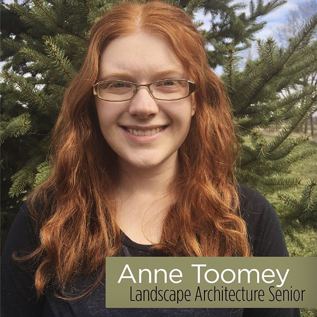 """Anne Toomey's senior Honors thesis, """"A Healing Landscape for Indianapolis, Indiana,"""" has been selected as the winner of the2019Joeand Carol Trimmer Prize for Outstanding Senior Creative Project. The competition for this award was rigorous. Thanks to the generosity ofJoeand Carol Trimmer, Anne will receive a $1,200 scholarship.  #ballstate_landscape #ballstate100 #annetoomey #joeandcaroltrimmerprize #scholarship #indianapolis #landscapedesign"""
