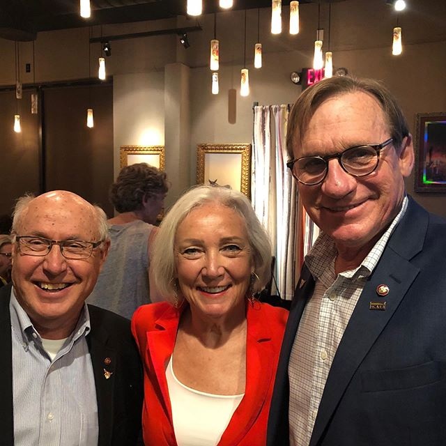 AIA national conference in Las Vegas this week. CAP alumni reception.  CAP alums Gary Vance, Julia Monk and Greg Erny, former classmates and now AIA Fellows.  #AIA #gmanvance @hoknetwork #architecturellc