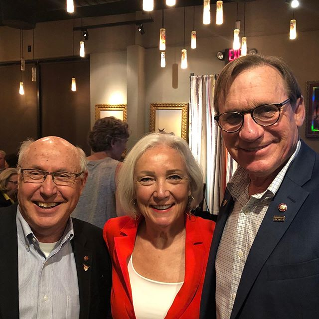 AIA national conference in Las Vegas this week. CAP alumni reception.  CAP alums Gary Vance, Julia Monk and Greg Erny, former classmates and now AIA Fellows #AIA @gmanvance @hoknetwork @architectsllc