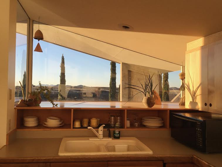 The Sky Suite's sunny kitchen
