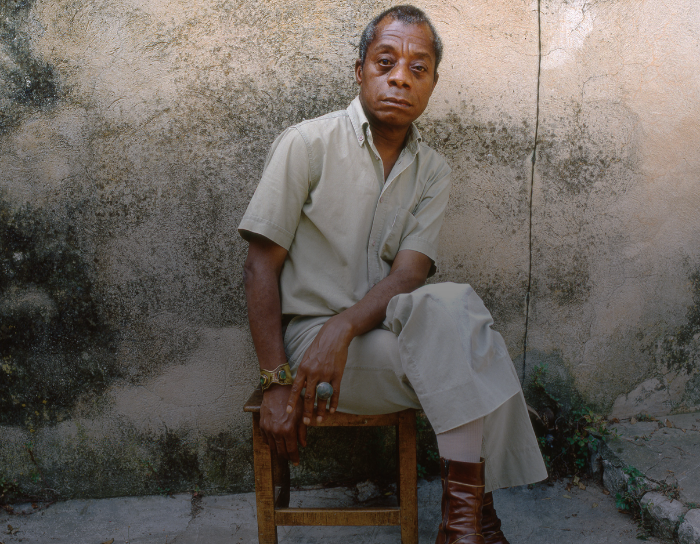 James Baldwin photographed  in Saint-Paul-de-Vence in 1979  by  Dmitri Kasterine