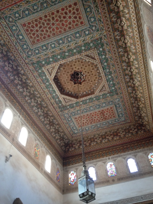 A ceiling at Bahia Palace | photo by Maleeha Sambur