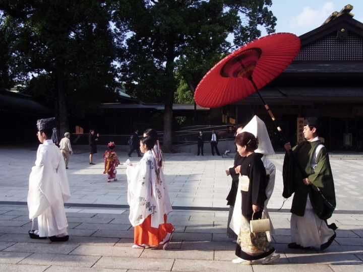 A Japanese wedding in Yoyogi Park