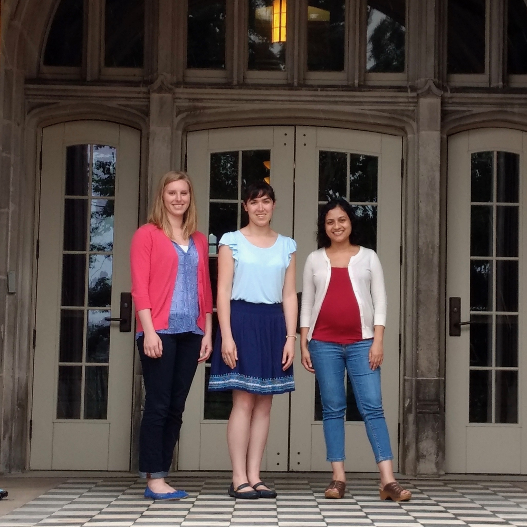 Marie visited Sharani Roy's group at The University of Tennessee – Knoxville. (L-R) Sarah Isbill, Marie, Prof. Roy.