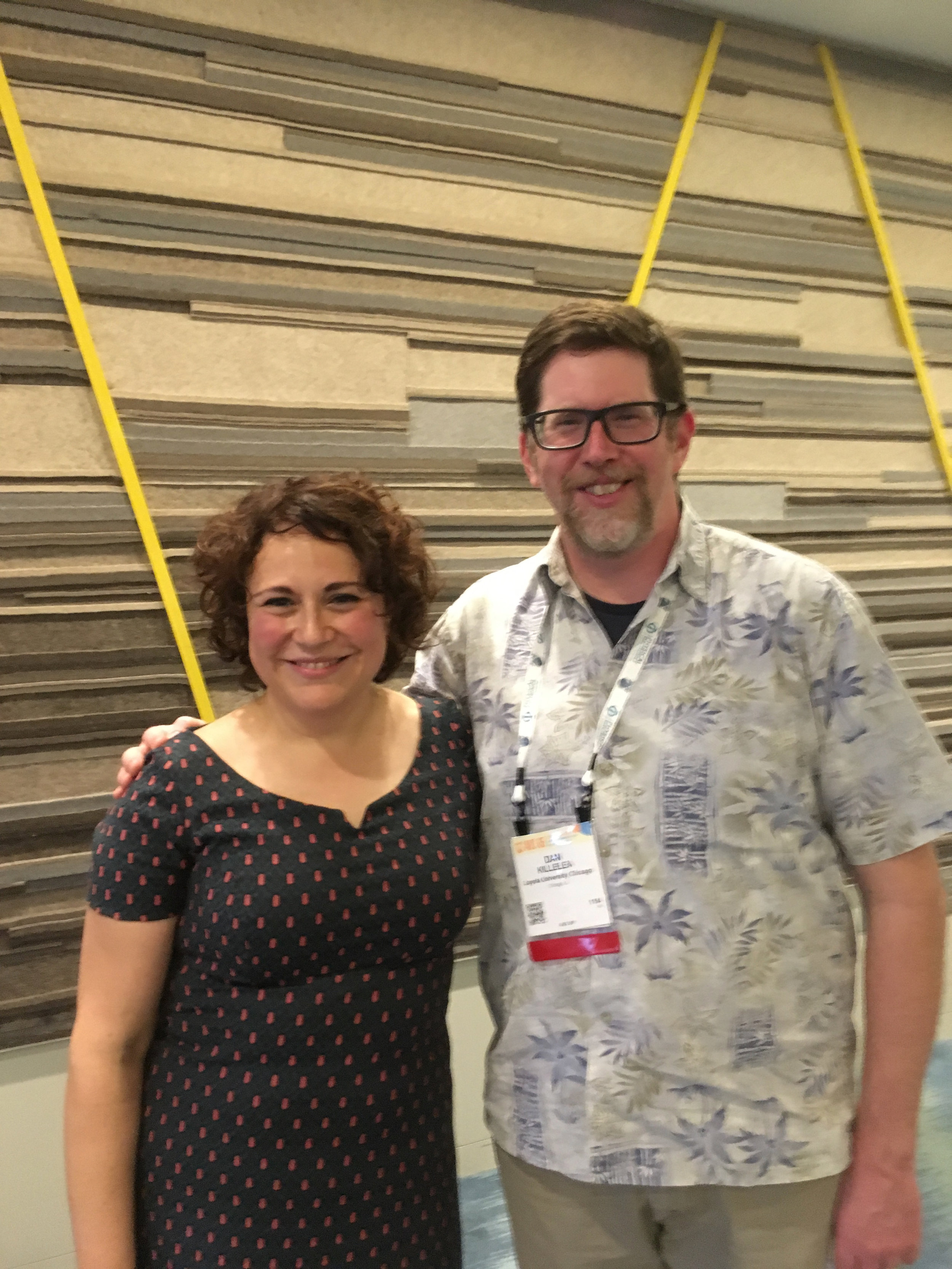 AVS 66 Program Chair Adriana Creatore (TU-Eindhoven) and AVS 67 Program Chair Dan at program dinner.