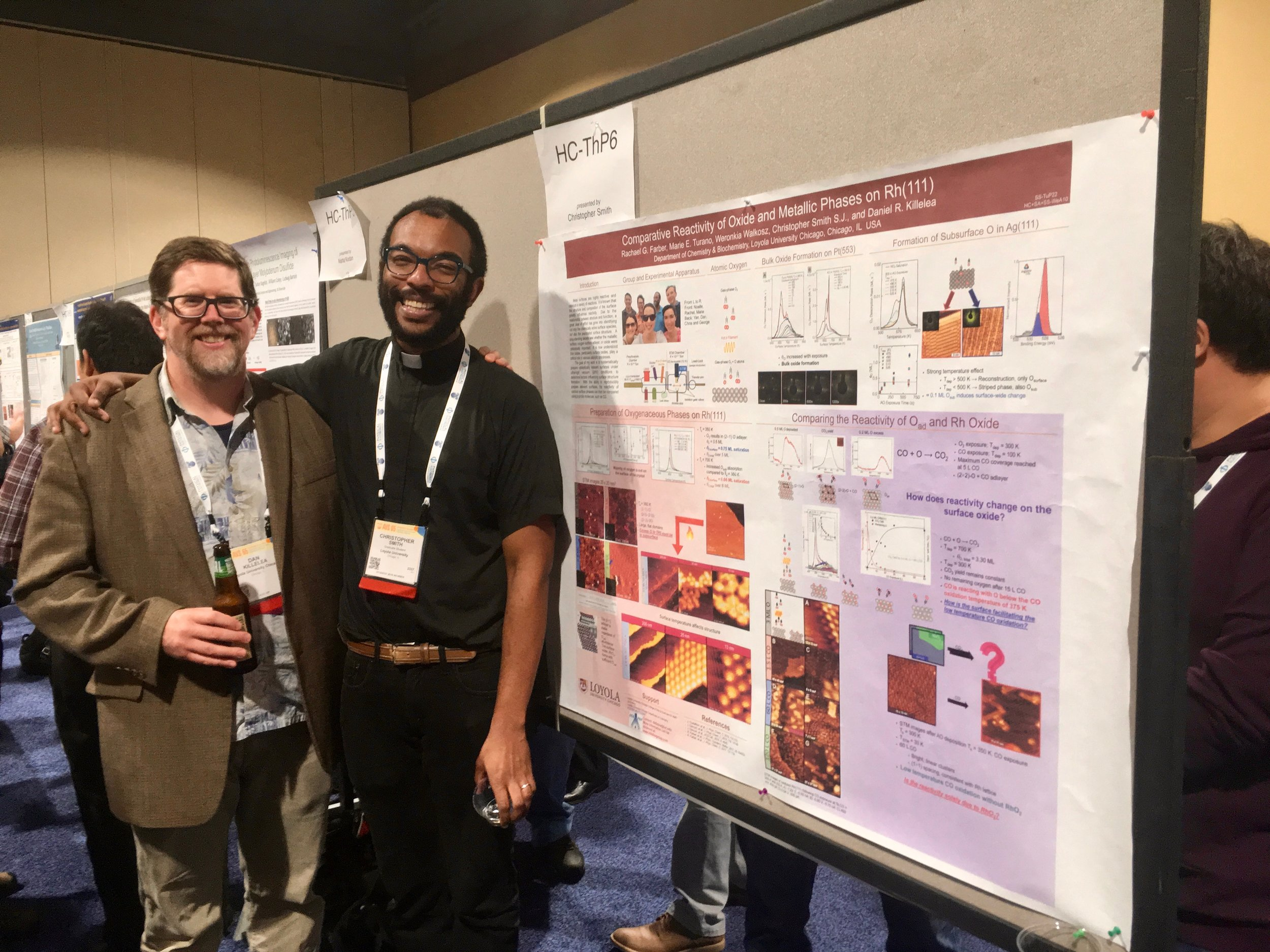 Dan and Chris at his poster at AVS 65.
