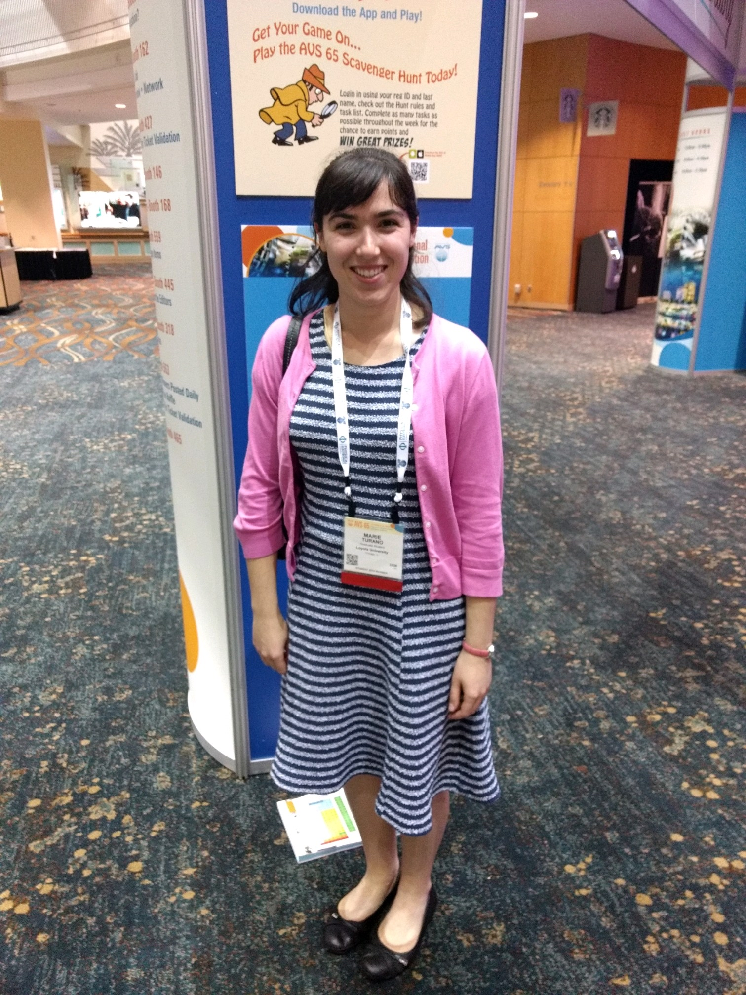 Marie at AVS 65 in Long Beach.