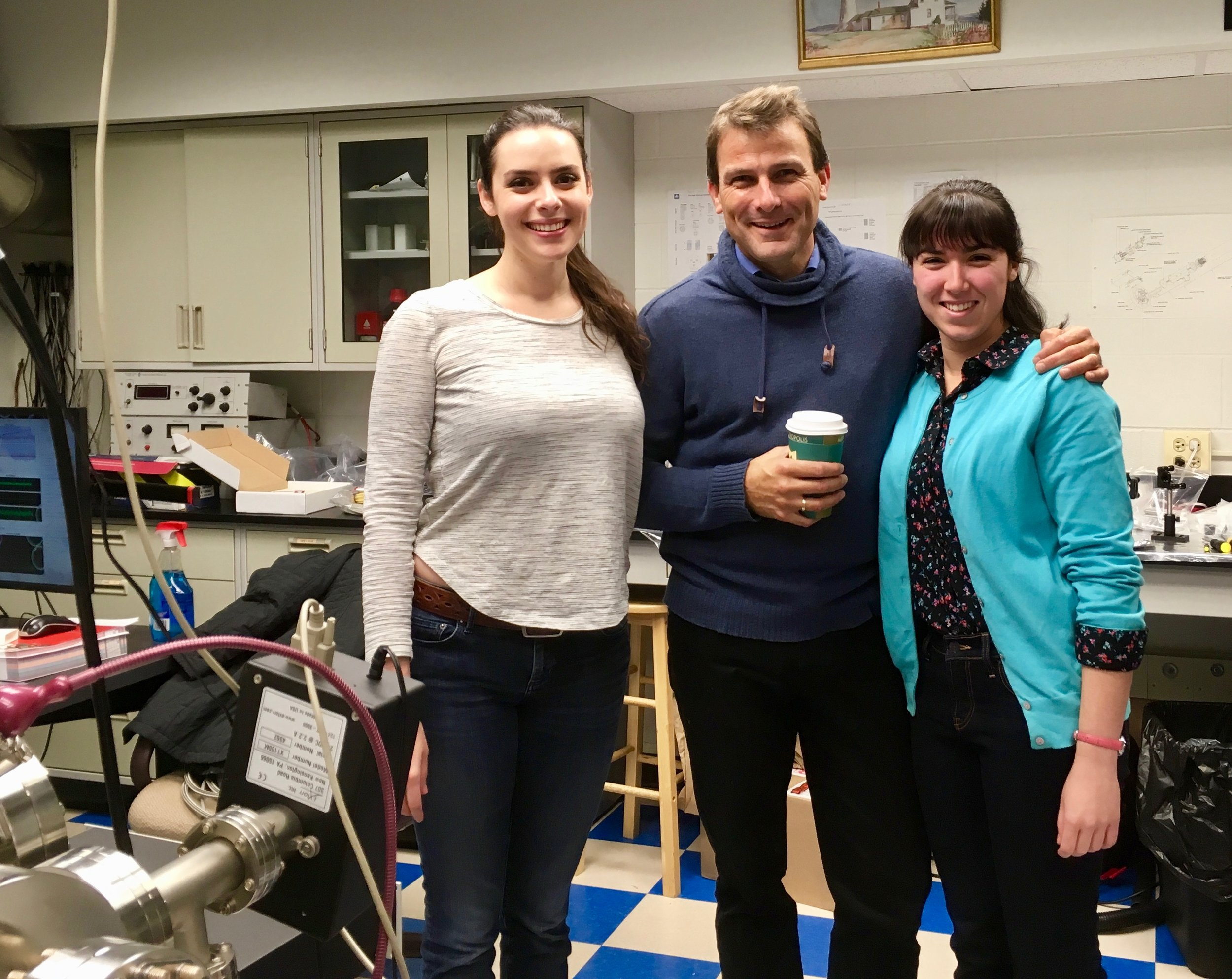 Ludo (and Rachael) visited the lab before AVS.