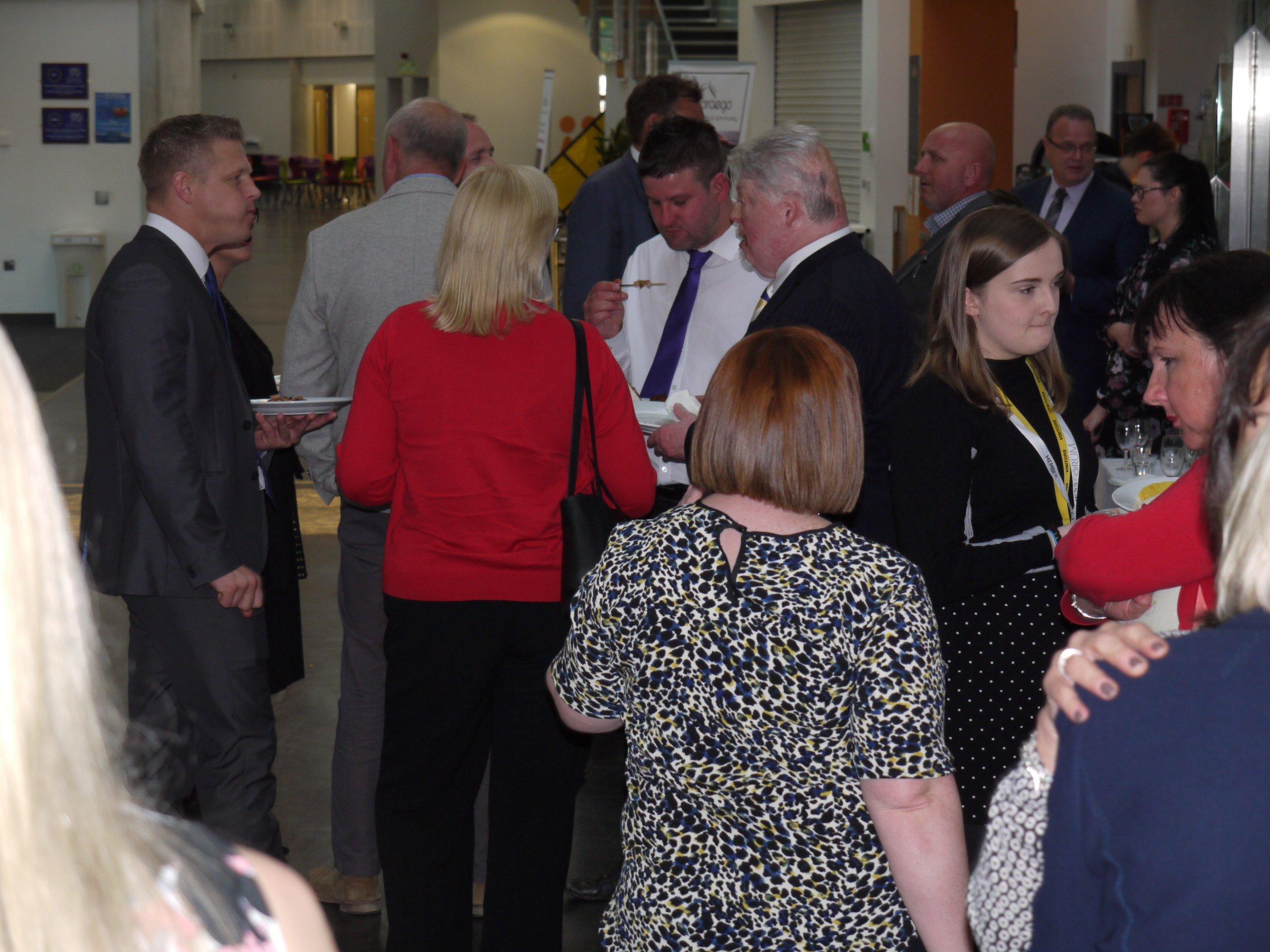 caerphilly business forum crowd