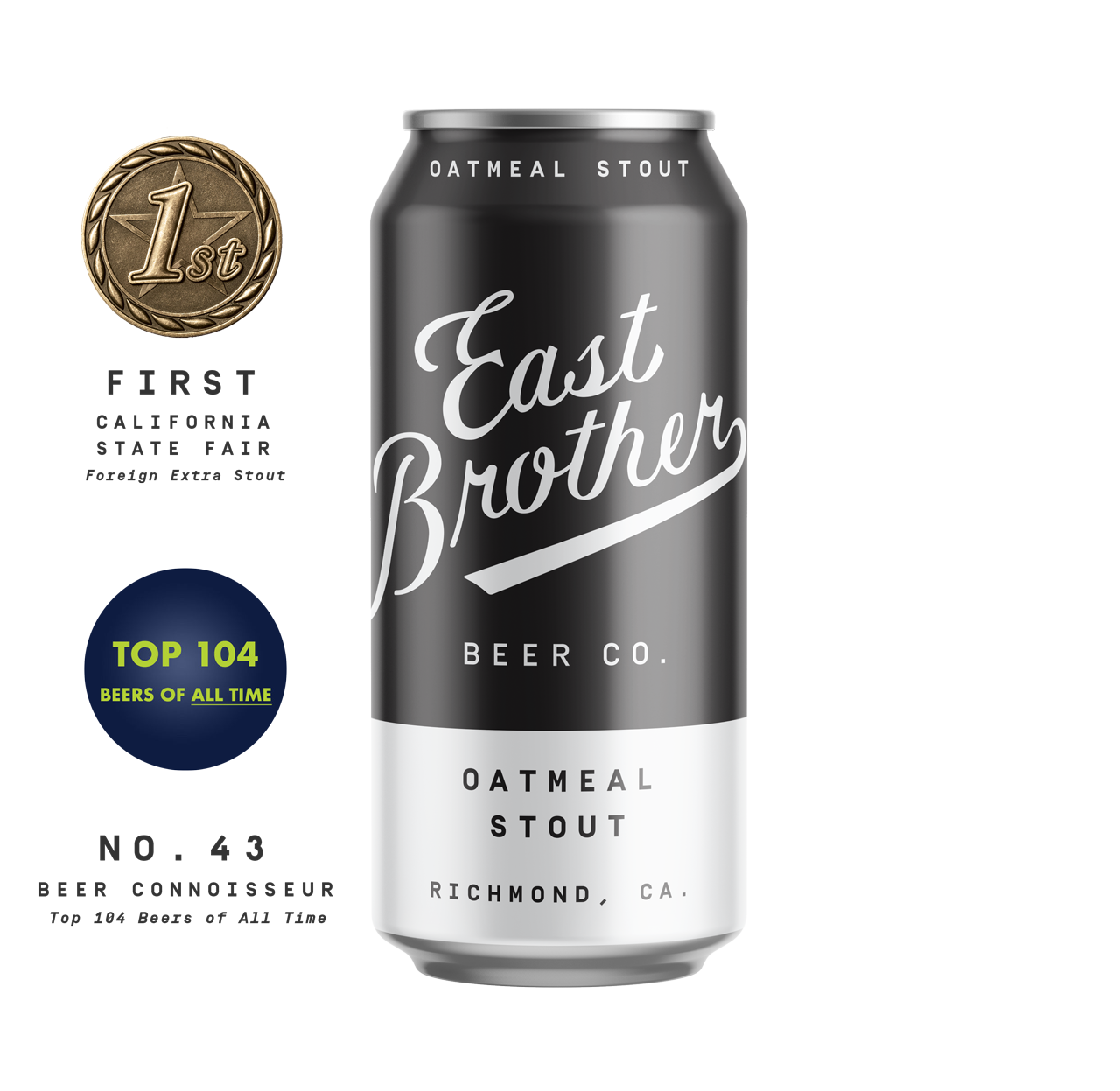 OATMEAL STOUT - English-inspired with notes of rich milk chocolate, dark fruit — soft, comforting finish.5.4% ABV.
