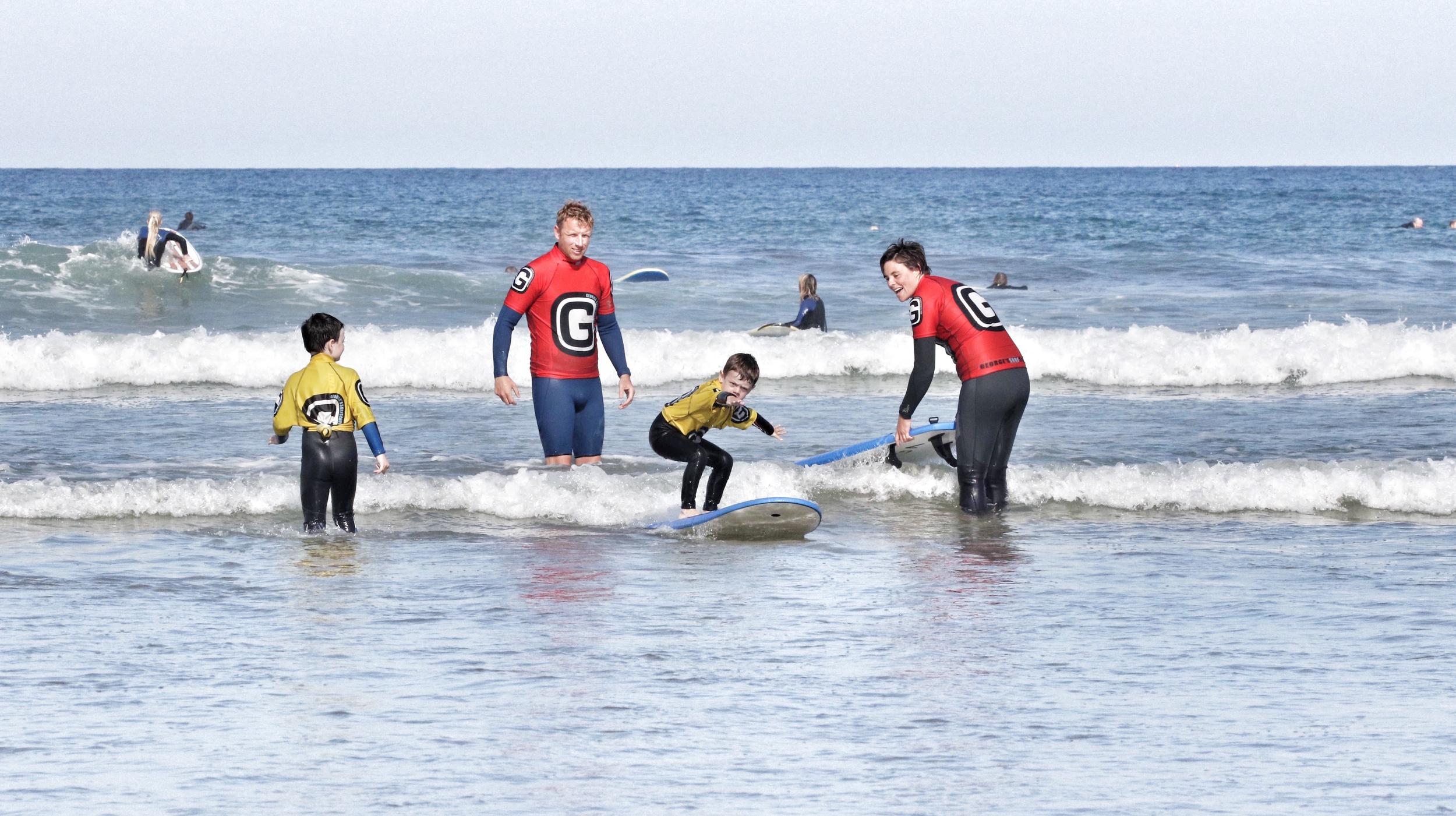 George's Surf School    TEACHING CHILDREN