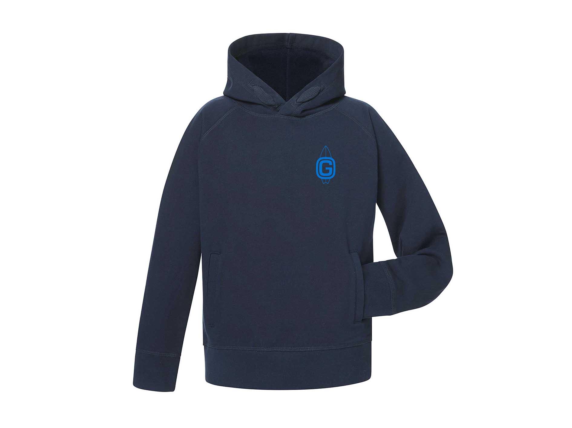 GSS Kids Hoodie £25 - 100% organic cotton navy hoodie