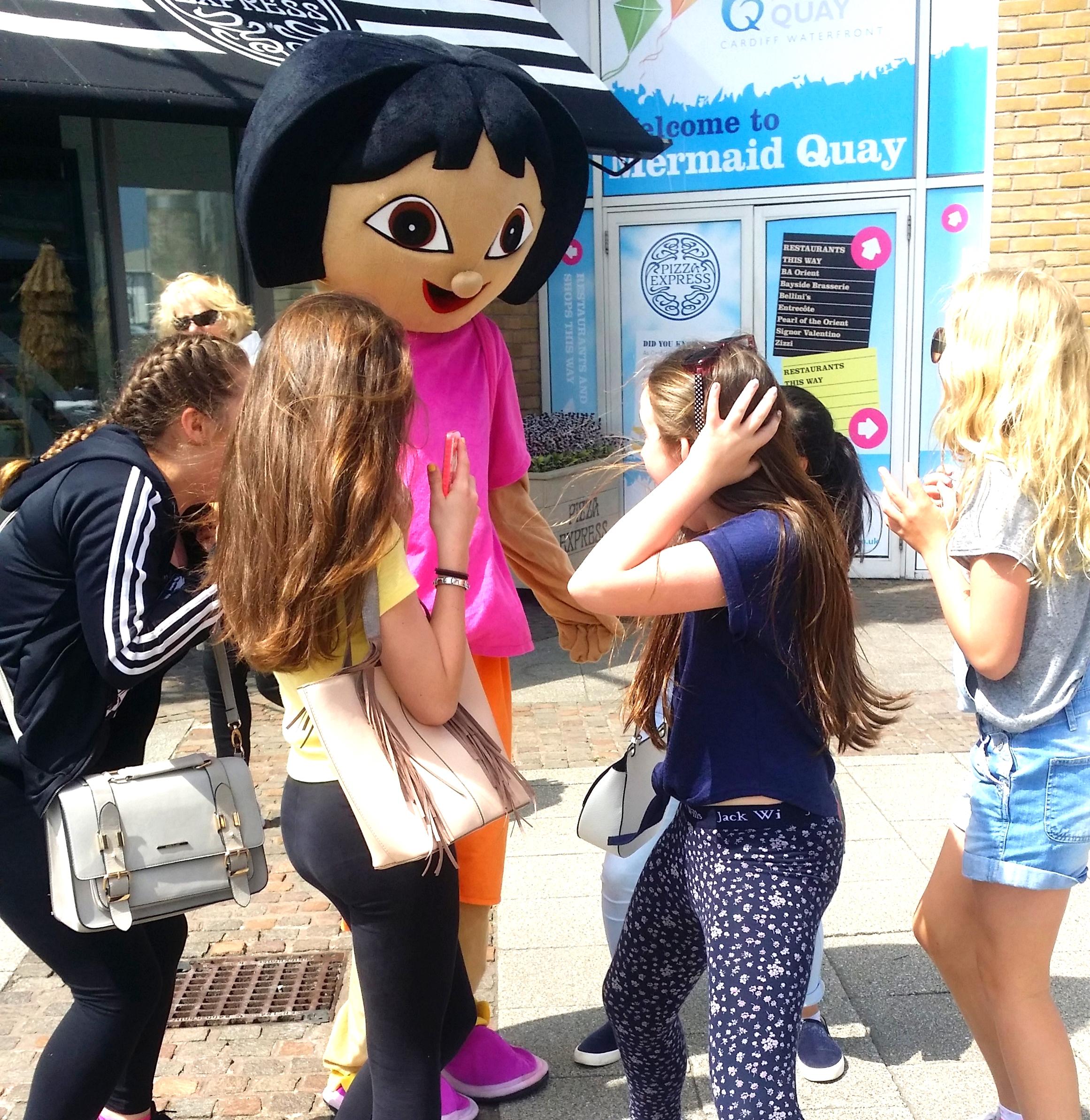 Dora Exploring Mermaid Quay over half term!