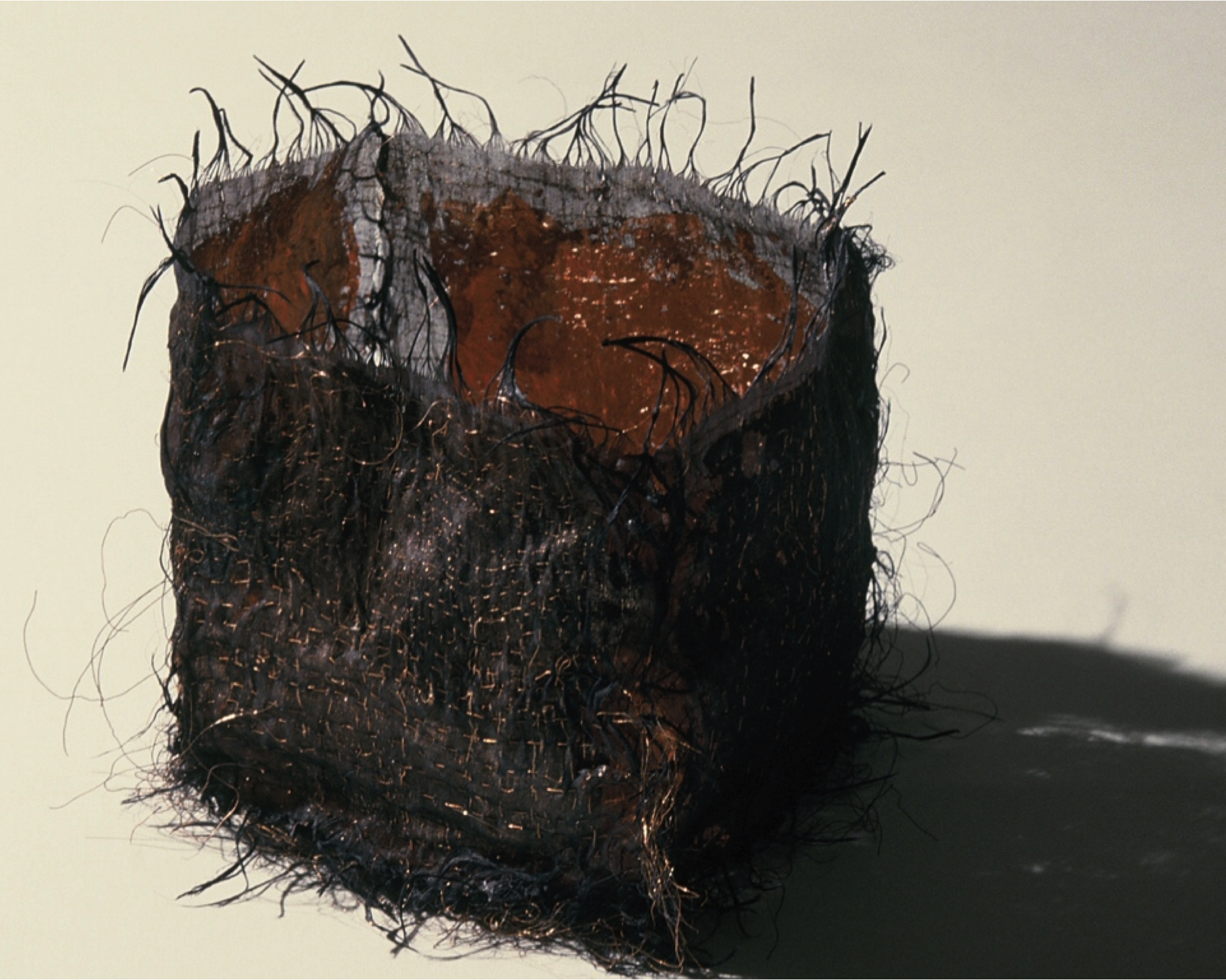 Black Box Lined With Copper Leaf, 1986