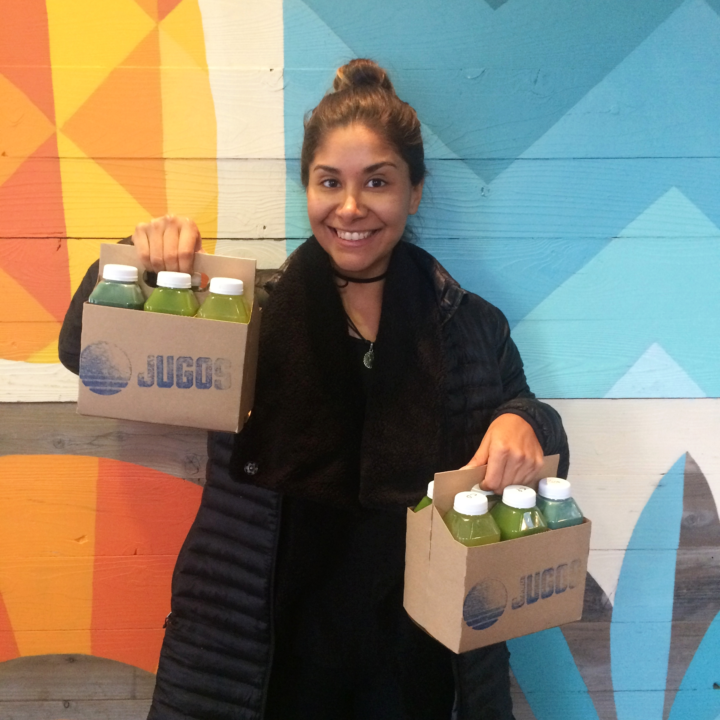 "With my  Jugos Boston  Six Pack - we choose the ""Verde"" pack."