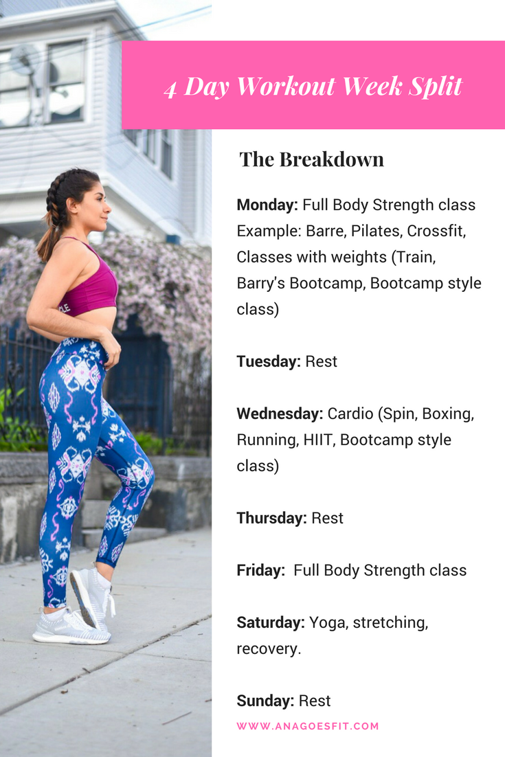 how to plan workout week with fitness classes