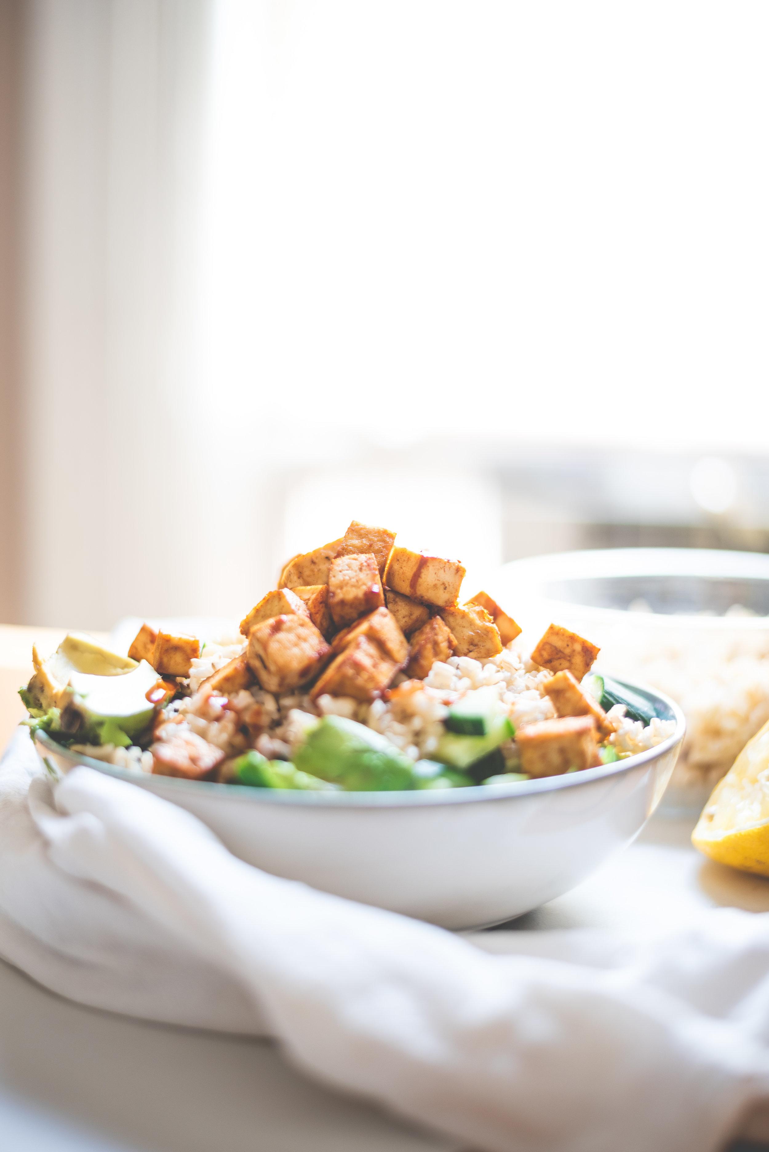Easy Crispy Tofu Salad Ensalada De Tofu Crujiente Facil De Hacer