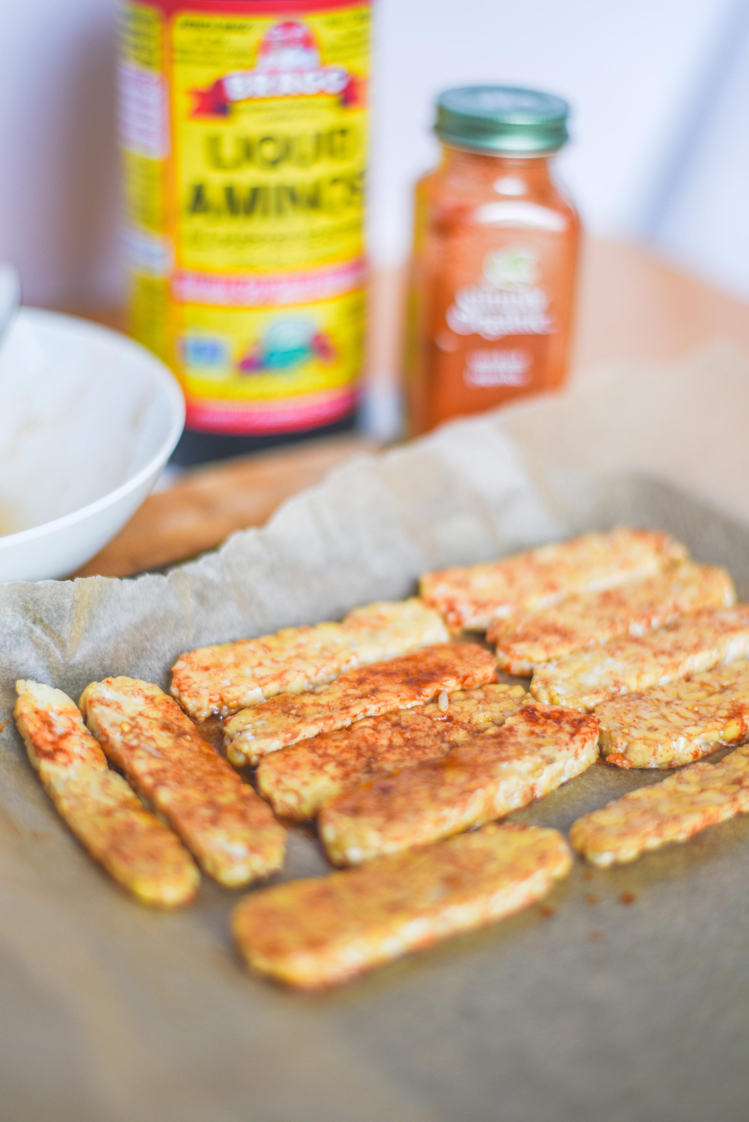 easy smokey tempeh recipe vegan 3 ingredients