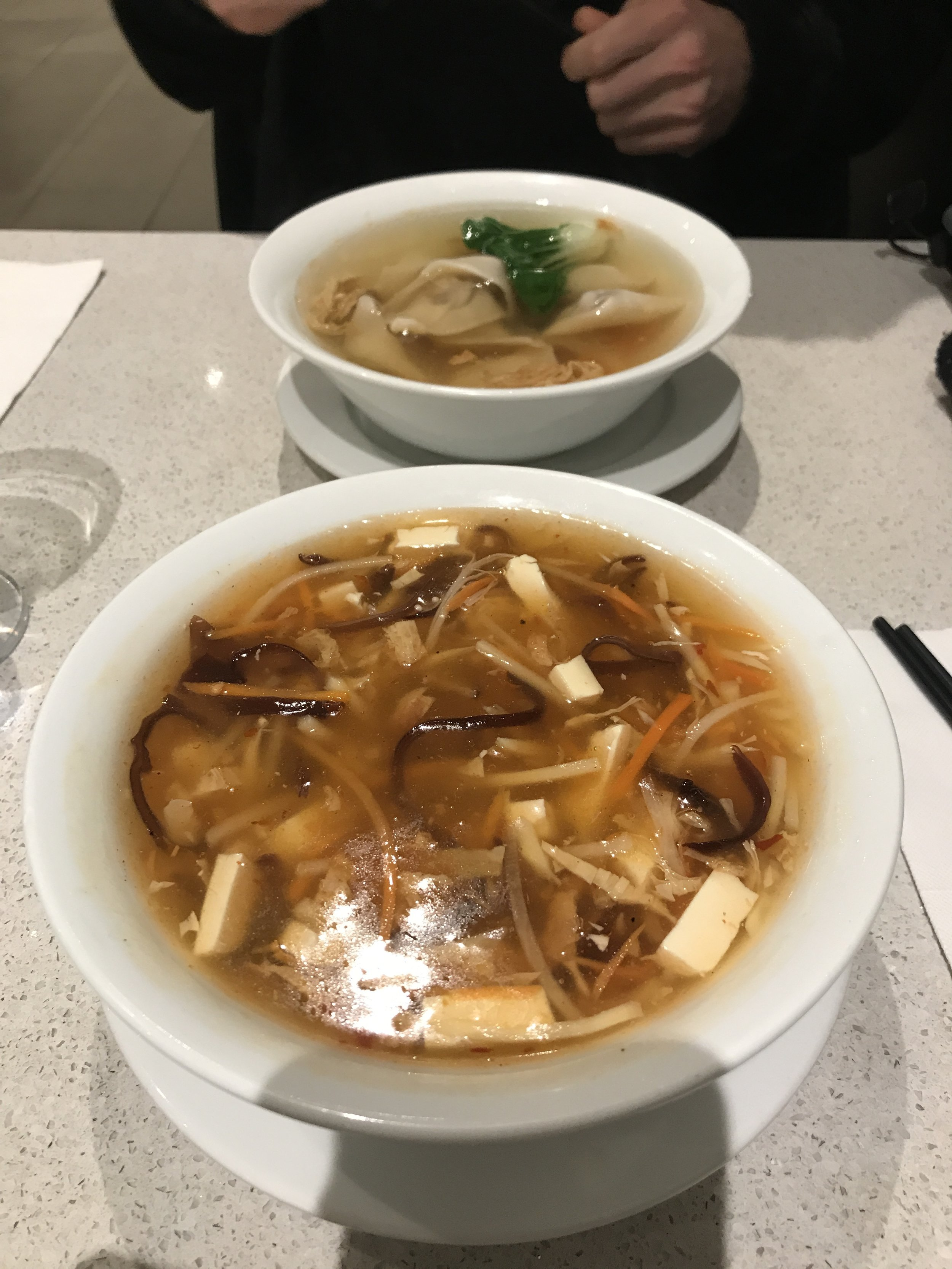 The sour soup