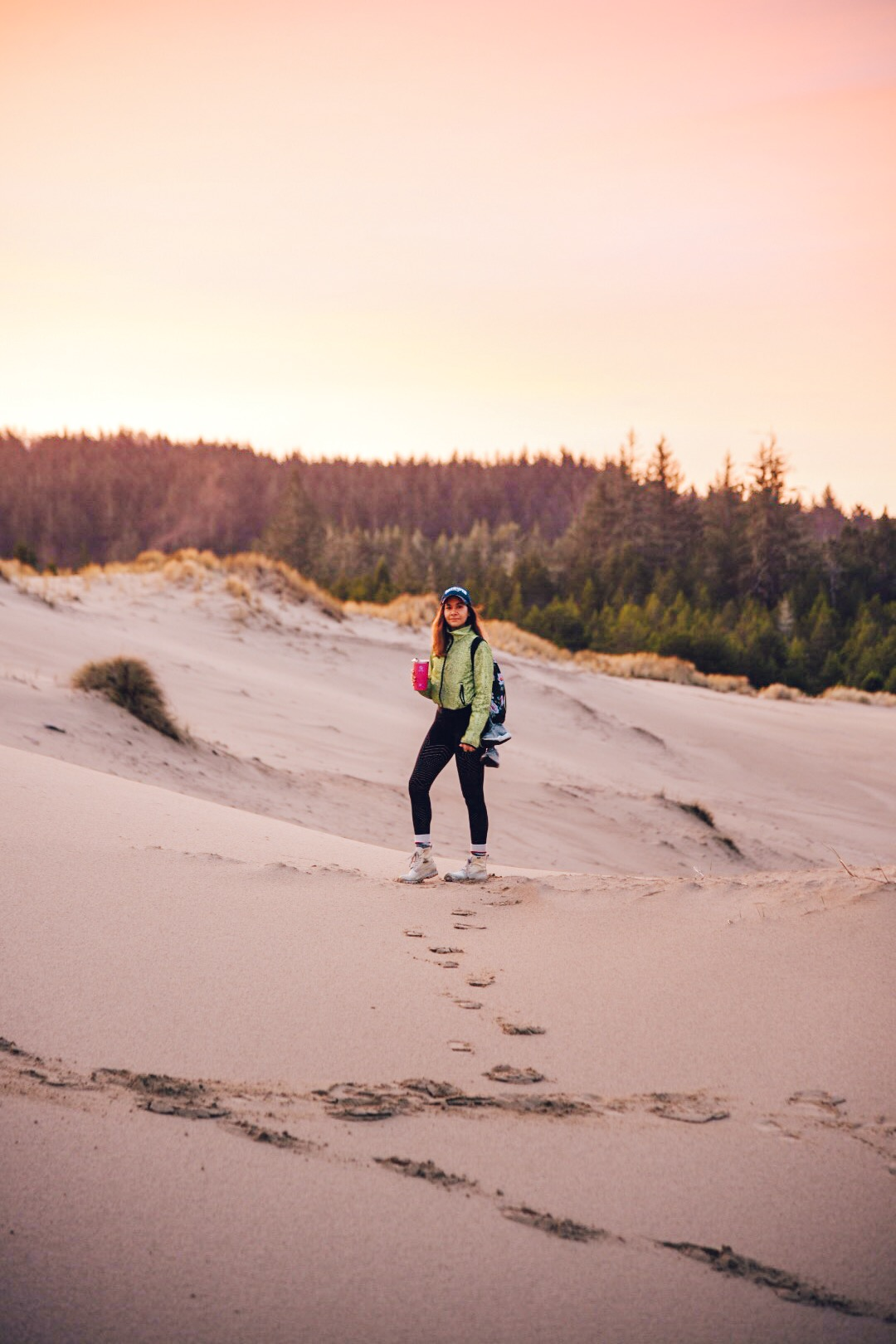 Dunes at 7:30 am at the Oregon day use area trail loop. Photo by  Matthew Davey