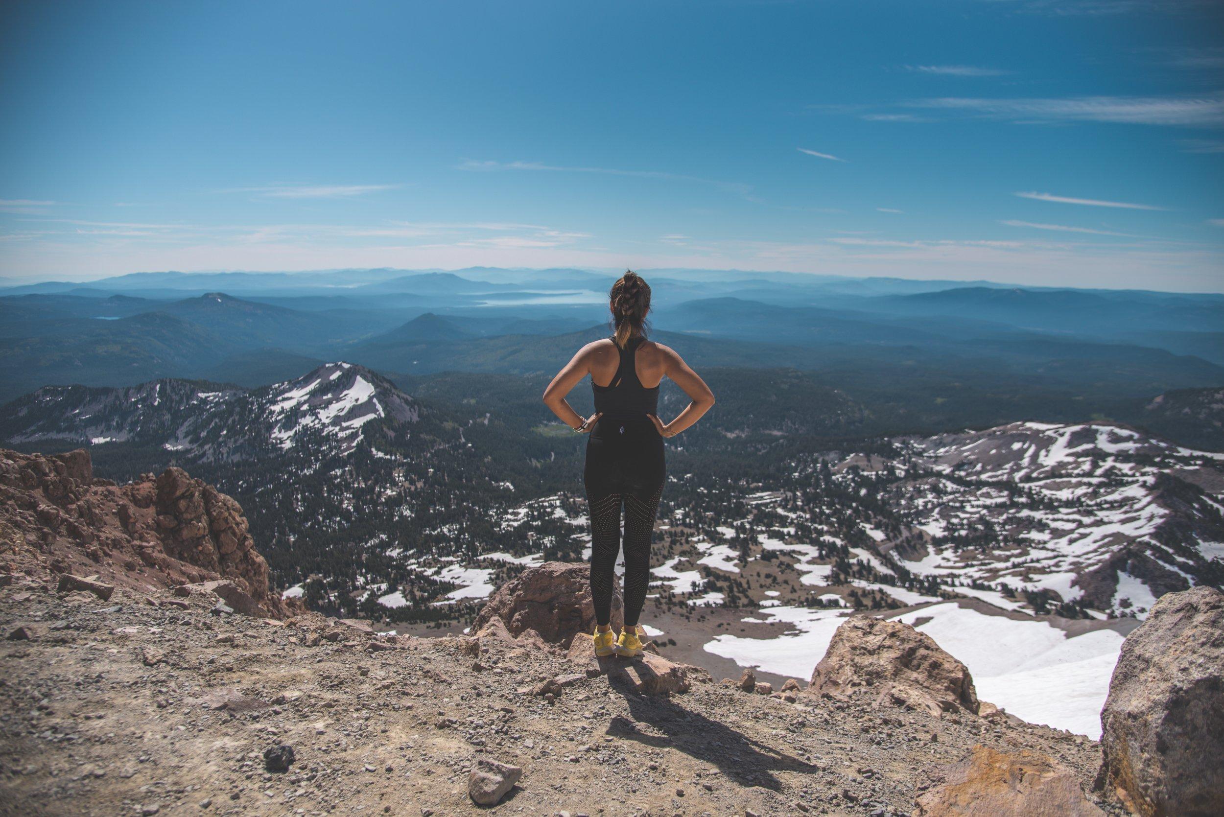 Vista desde la punta de la montaña Lassen - foto de Matt Davey.