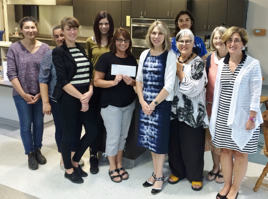 Dartmouth Family Centre board, staff and community members were on hand for the cheque presentation at the Dartmouth North Community Food Centre.