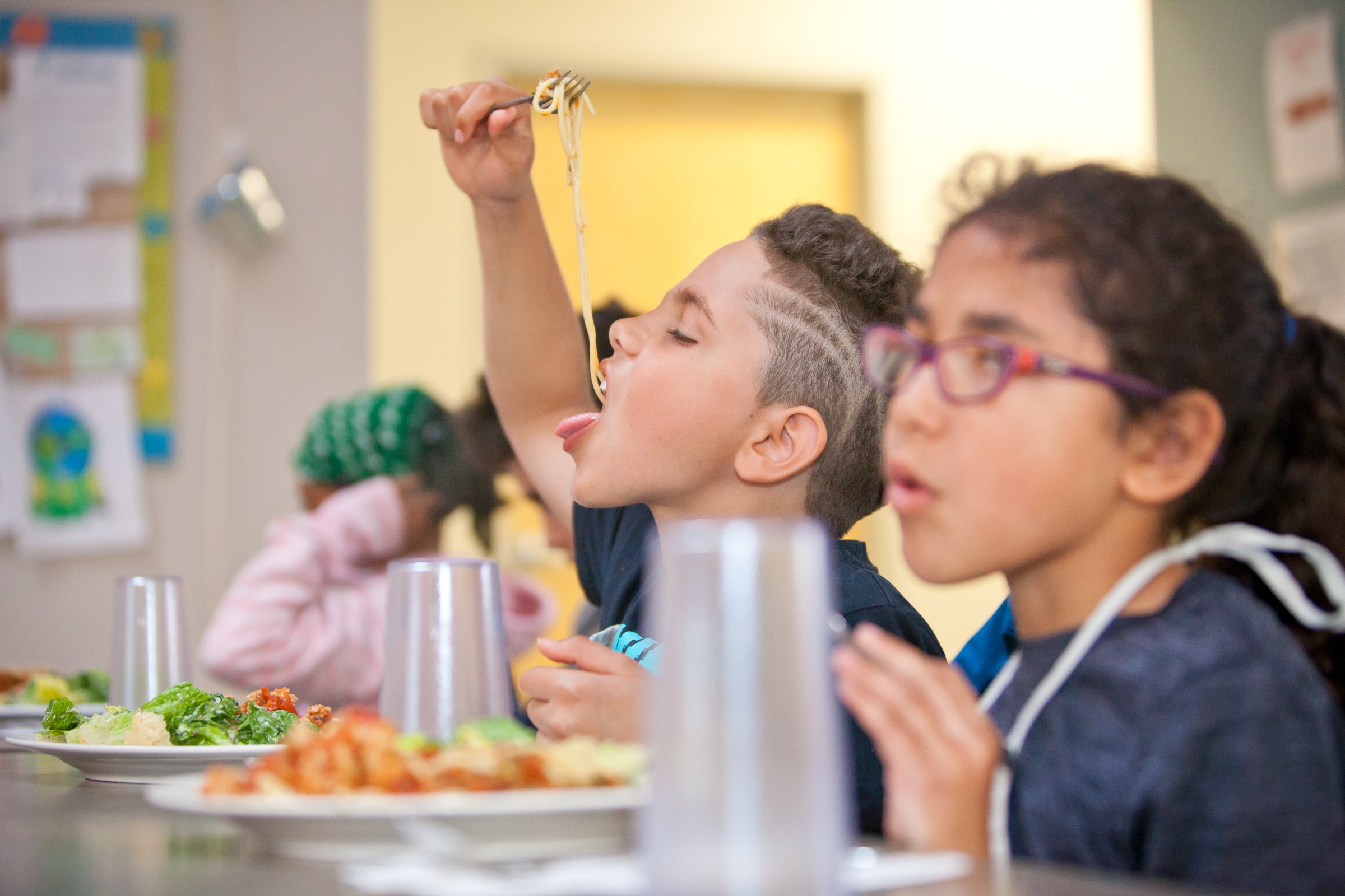 Twins Skye and Isaiah took part in the Young Cooks program at the Dartmouth North Community Food Centre.