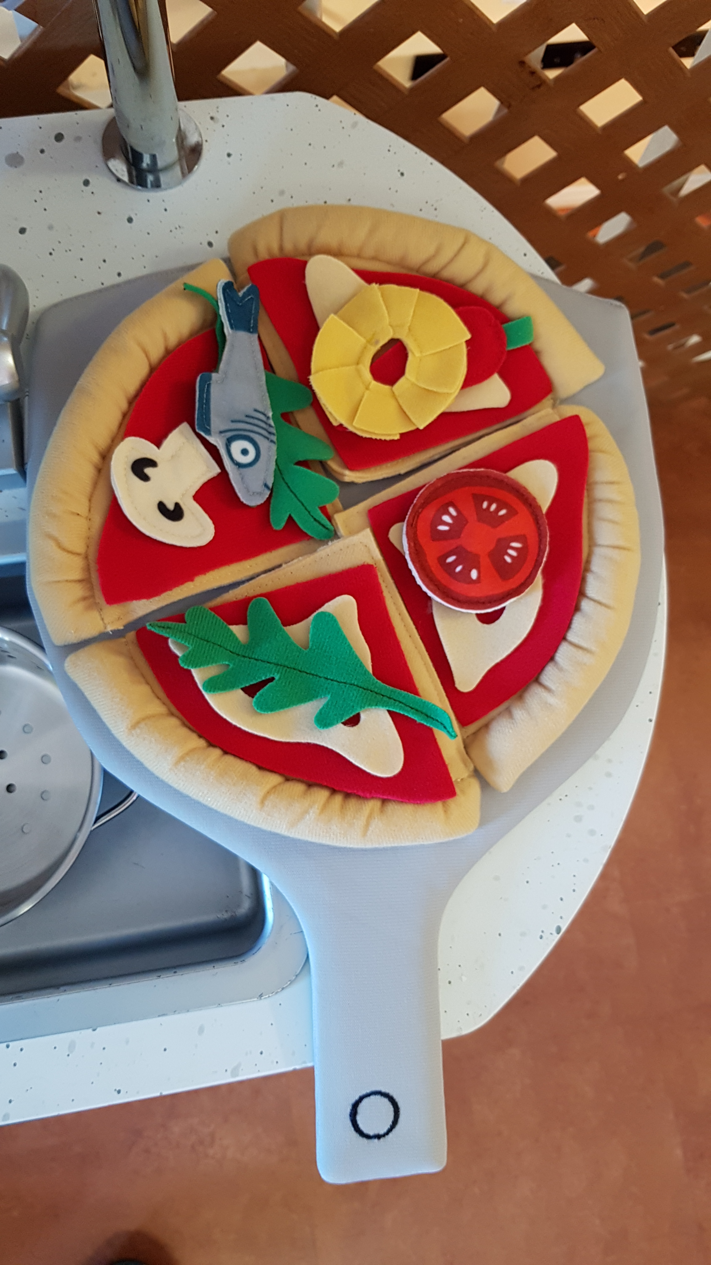Pizza anyone? One of the adorable new additions to our play kitchen!