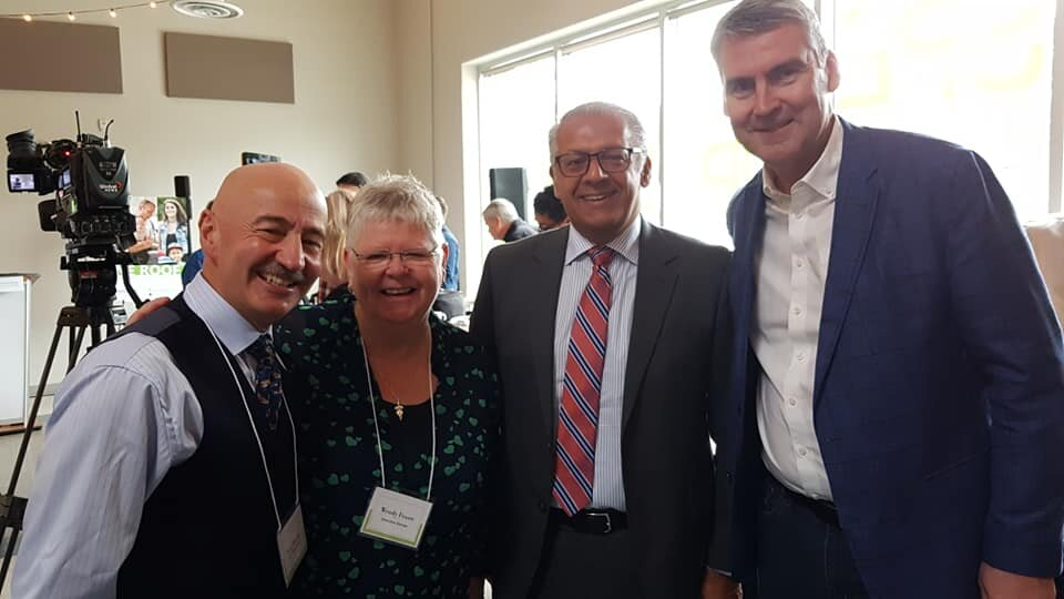 From right to left: Premier McNeil, Danny Chedrawe, Executive Director Wendy Fraser, Councillor Tony Mancini.
