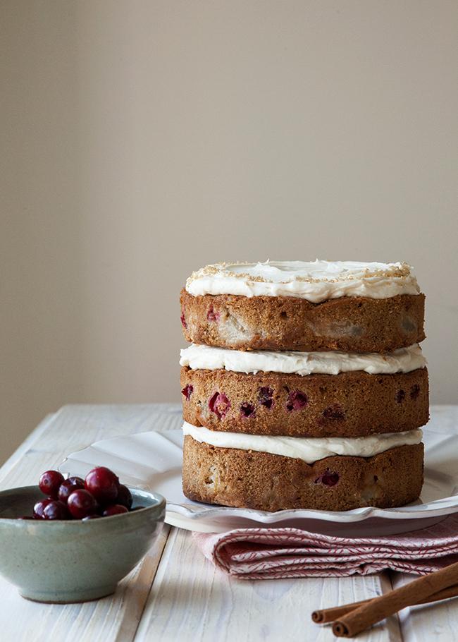 Cran-Pear-Cake