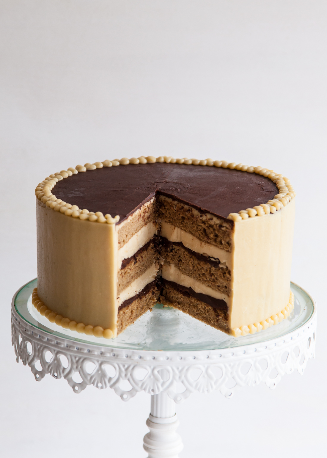 "Outtake from ""Layered"" of the French Opera Cake."