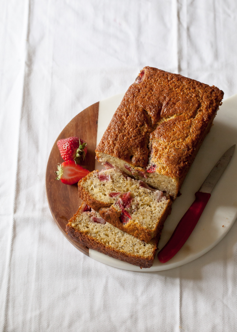 Strawberry Poppyseed Cake