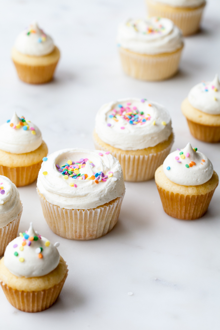 The best ever Classic Vanilla Cupcakes with Whipped Vanilla Frosting recipe.