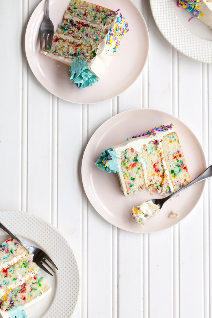 Funfetti Cake Recipe with sprinkles