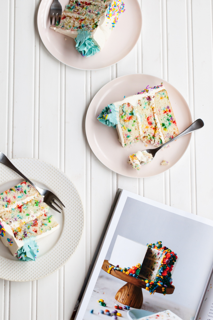 Funfetti Cake Recipe with Sprinkles from Molly on the Range