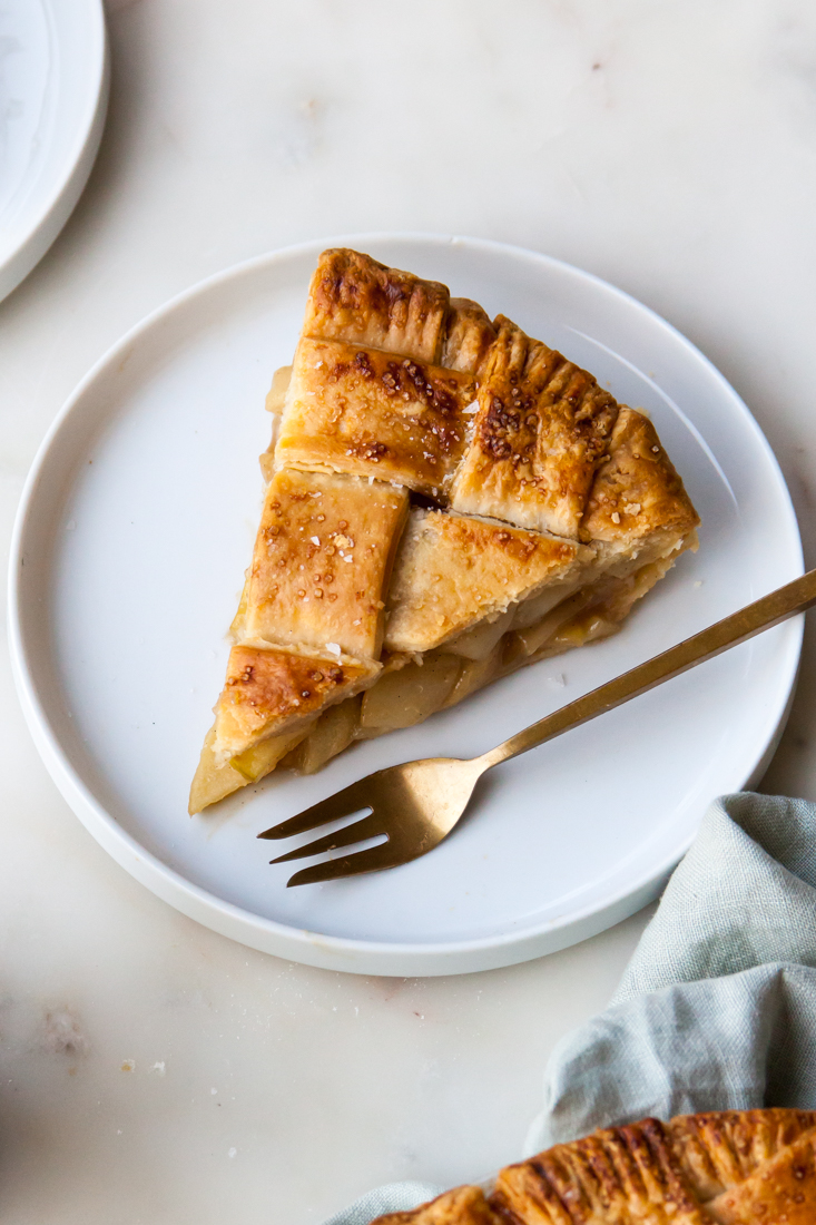 Butterscotch Pear Pie