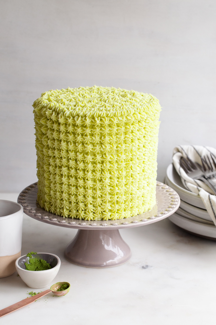"Matcha Chocolate Cake from ""Layered: Baking, Building and Styling Spectacular Cakes."""