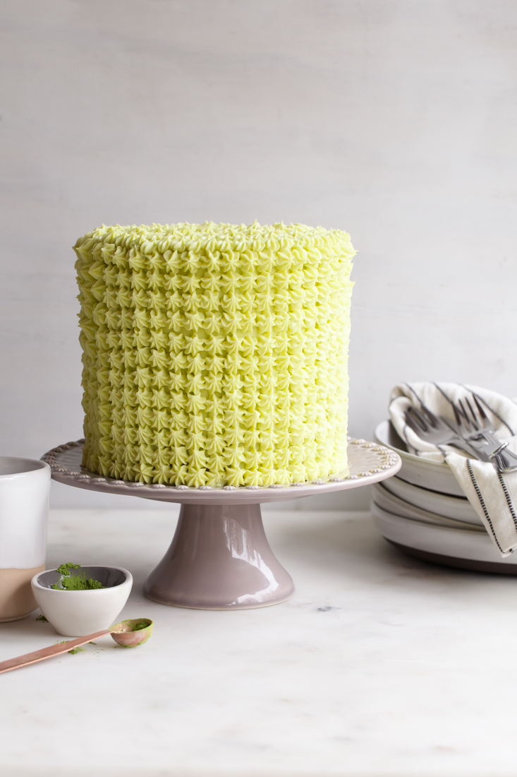 """Matcha Chocolate Cake from """"Layered: Baking, Building and Styling Spectacular Cakes."""""""