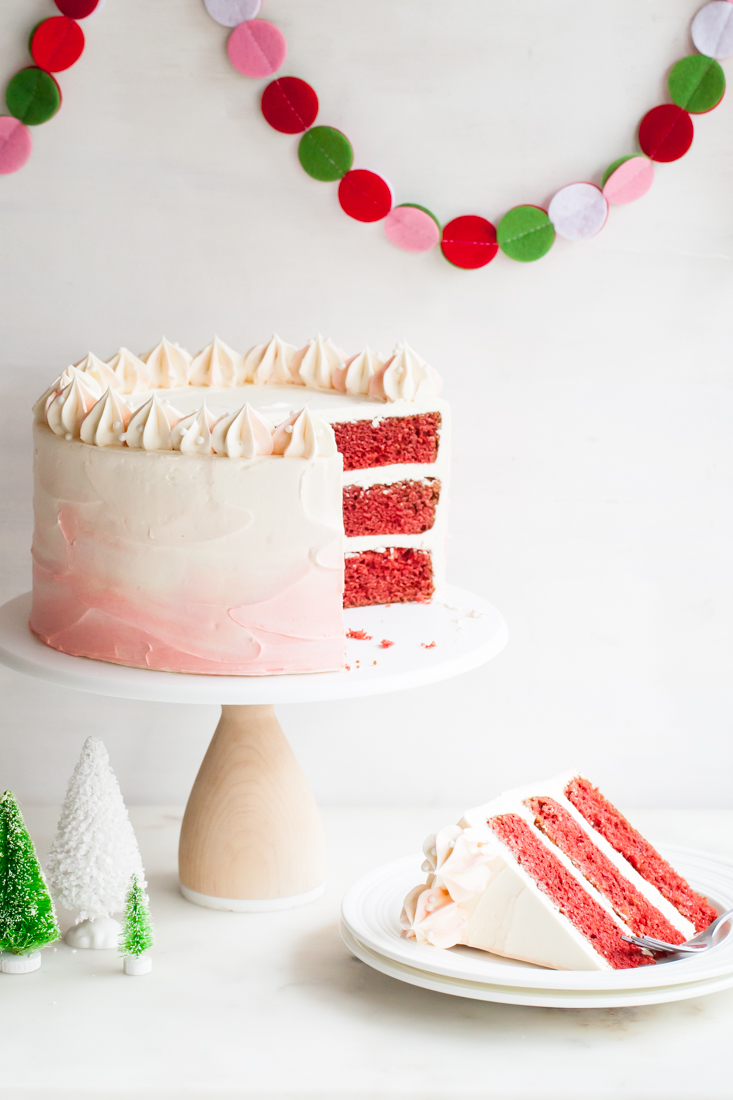 Peppermint Red Velvet Cake
