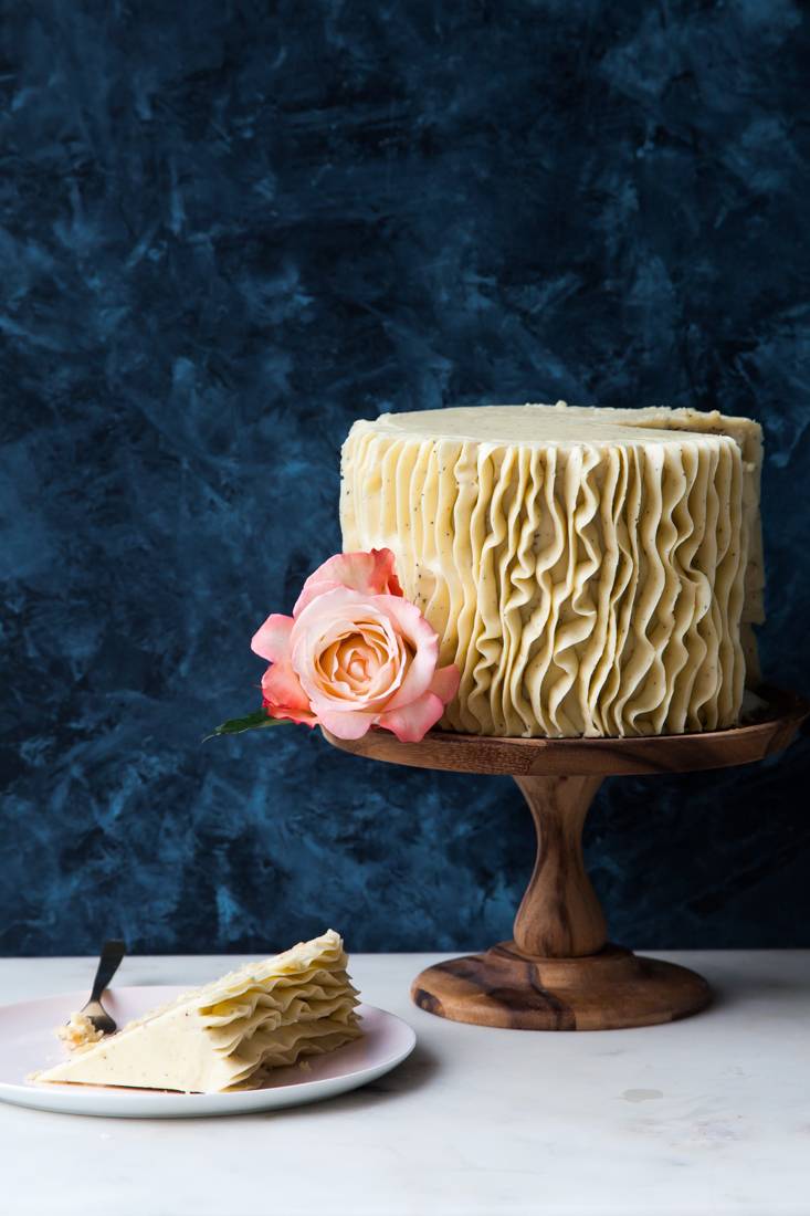 Gluten Free Vanilla Cake with Earl Grey Buttercream