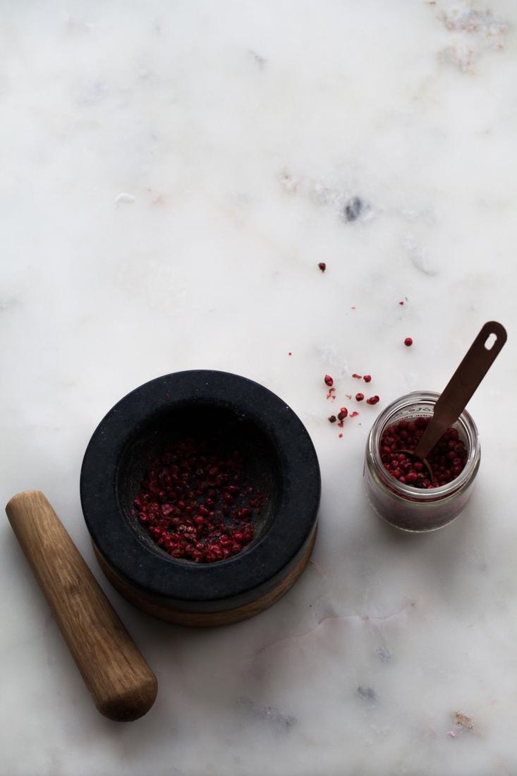 Pink Peppercorn and Ganache Valentine Macarons with Valrhona Chocolate