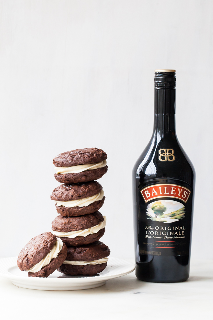 Baileys Chocolate Brownie Truffle Sandwich Cookies