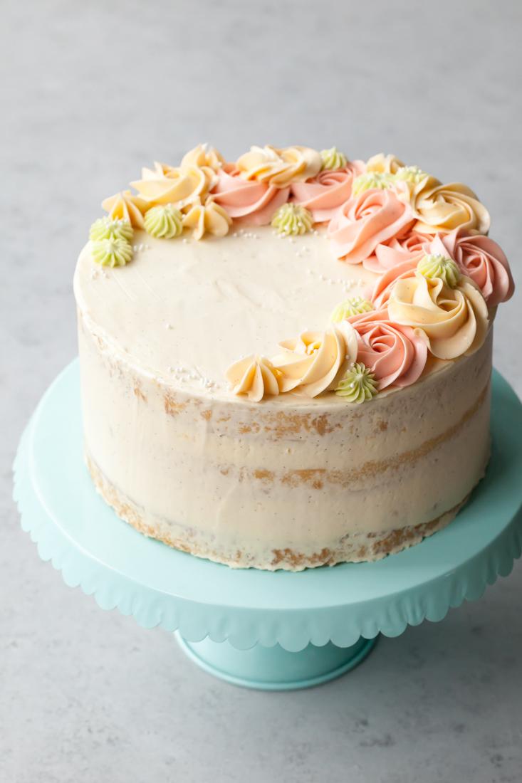 Coconut Vanilla Bean Layer Cake