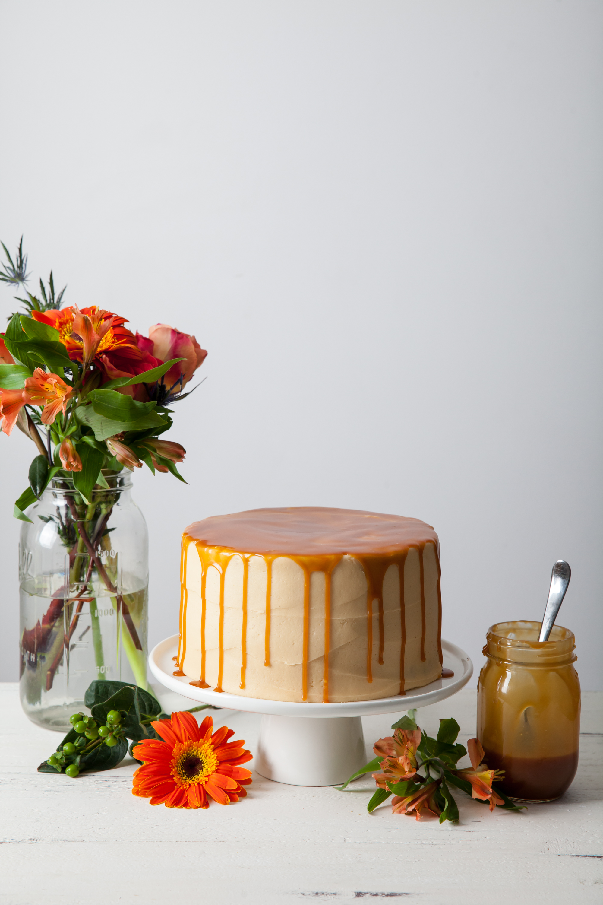 Chocolate Layer Cake with Coconut Caramel