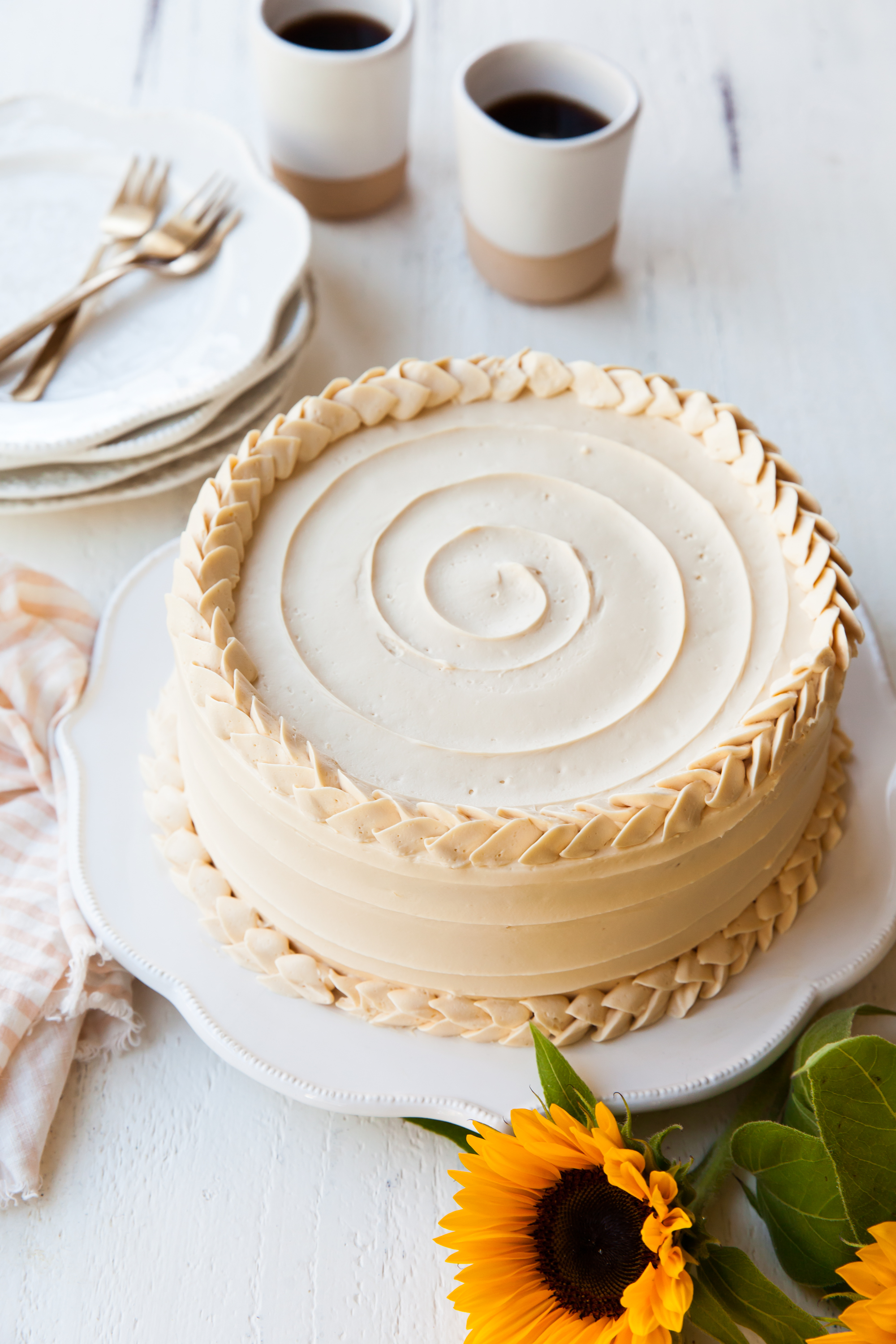 Pear cake with dulce de leche buttercream recipe