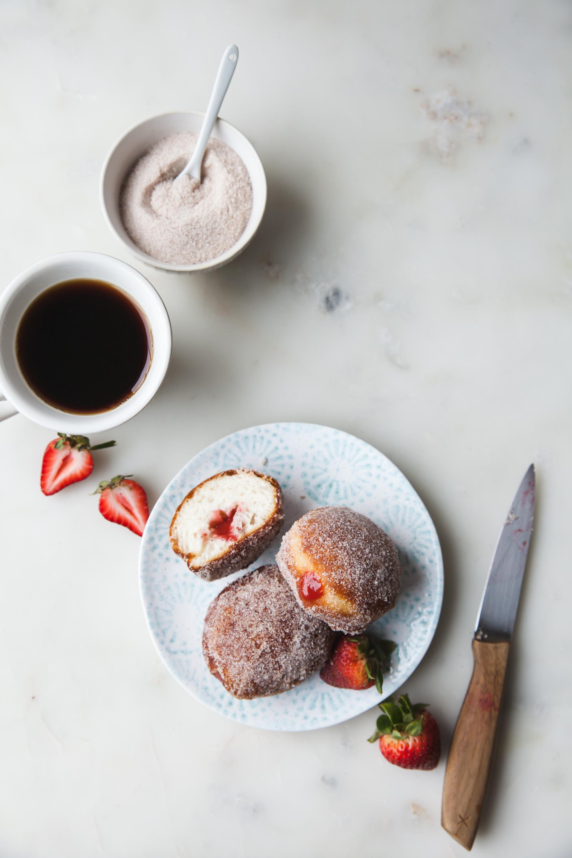 Strawberry Rhubarb Filled Donut Recipe