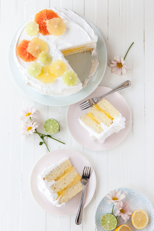 Lemon Meringue Layer Cake